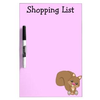Cute Cartoon Squirrel Dry Erase Boards