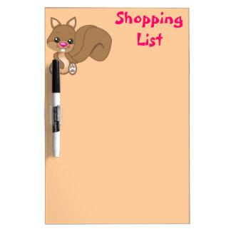 Cute Cartoon Squirrel Dry Erase Board