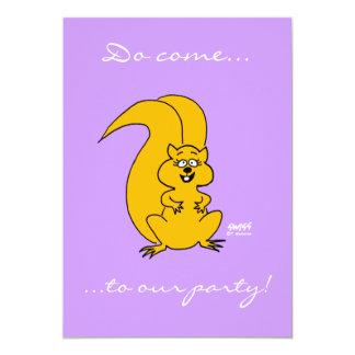 Cute Cartoon Squirrel Funny Invitations Any Party
