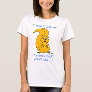 Cute Cartoon Squirrel I Think I Like You Funny T-Shirt