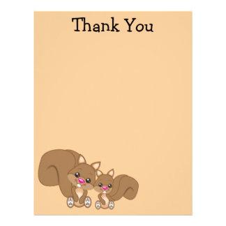 Cute Cartoon Squirrel Letterhead