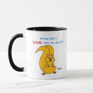Cute Cartoon Squirrel Love with Personal Message Mug