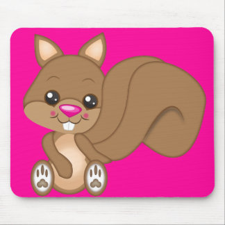 Cute Cartoon Squirrel Mouse Pad