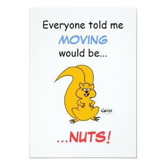 Cute Cartoon Squirrel Moving Announcement Postcard