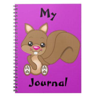 Cute Cartoon Squirrel Spiral Note Book