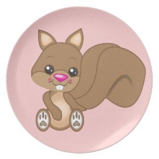 Cute Cartoon Squirrel Plates
