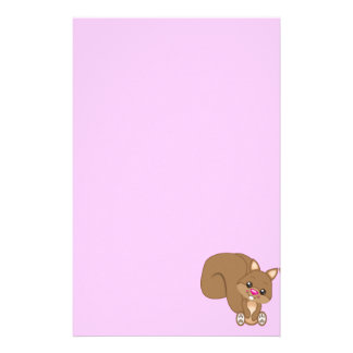 Cute Cartoon Squirrel Stationery