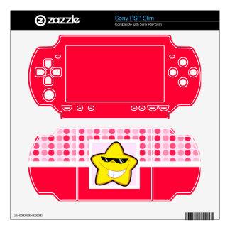 Cute Cartoon Star Skins For PSP Slim