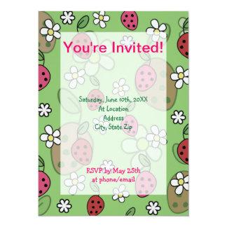Cute Cartoon Strawberries Green Pattern Card