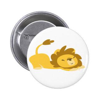 Cute Cartoon Stretching Lion Button Badge