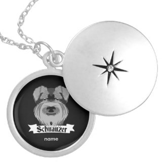 Cute Cartoon Style Schnauzer Locket Necklace
