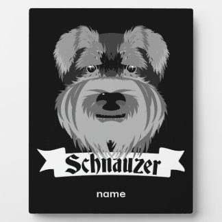 Cute Cartoon Style Schnauzer Plaque