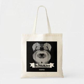Cute Cartoon Style Schnauzer Tote Bag