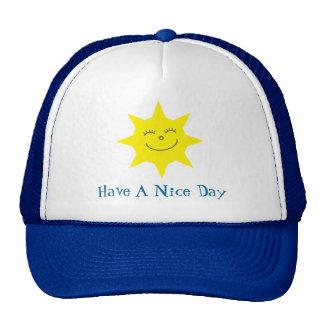 Cute Cartoon Sun Have A Nice Day Customizable Trucker Hat