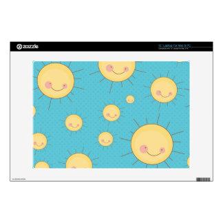 cute cartoon sunny sun cartoon pattern skin for laptop