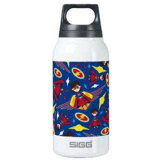 Cute Cartoon Superhero Pattern Insulated Water Bottle
