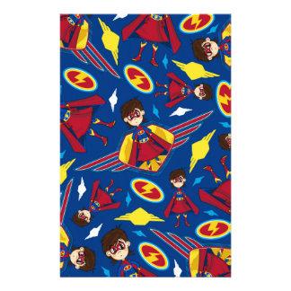 Cute Cartoon Superhero Pattern Stationery Paper