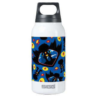 Cute Cartoon Superhero Silhouette Pattern Insulated Water Bottle