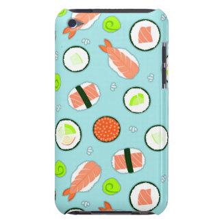 Cute Cartoon Sushi Pattern Blue iPod Case-Mate Case
