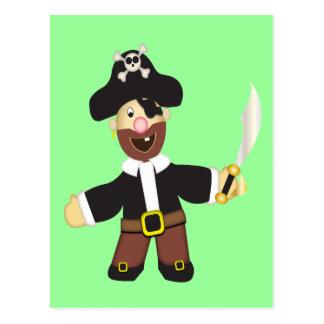 Cute Cartoon Swash Bucklin' Pirate Postcard