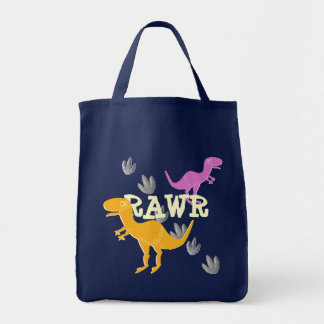 Cute Cartoon T-Rex Shopping Bag