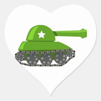 Cute Cartoon Tank Heart Stickers