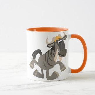 Cute Cartoon Tap Dancing Wildebeest Mug
