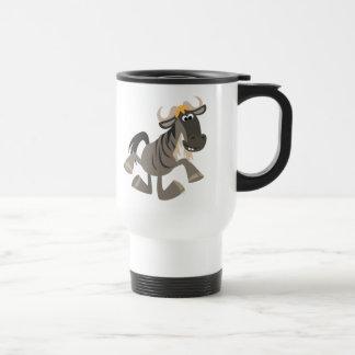 Cute Cartoon Tap Dancing Wildebeest Travel Mug