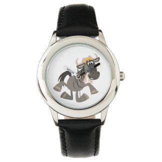 Cute Cartoon Tap Dancing Wildebeest Watch