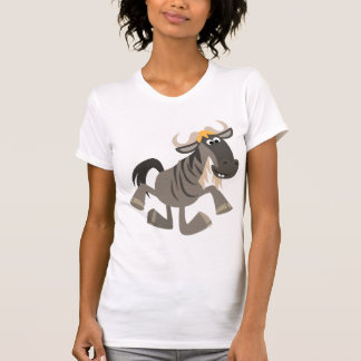 Cute Cartoon Tap Dancing Wildebeest Women T-Shirt