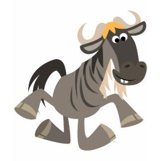 Cute Cartoon Tap Dancing Wildebeest Women T-Shirt zazzle_shirt