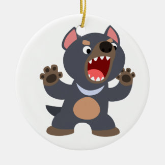 Cute Cartoon Tasmanian Devil Ornament