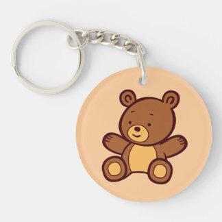 Cute Cartoon Teddy Bear Acrylic Keychain