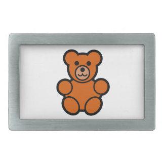 Cute Cartoon Teddy Bear Rectangular Belt Buckle