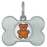 Cute Cartoon Teddy Bear Pet Name Tags