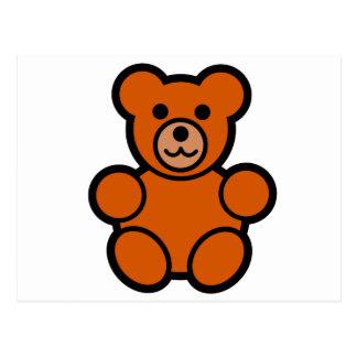 Cute Cartoon Teddy Bear Postcard