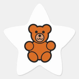 Cute Cartoon Teddy Bear Star Sticker