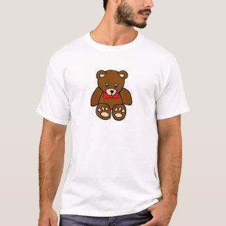 Cute Cartoon Teddy Bear Wearing Red Bow Tie T-Shirt