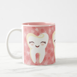 Cute Cartoon Teeth - Pink Gift Mug