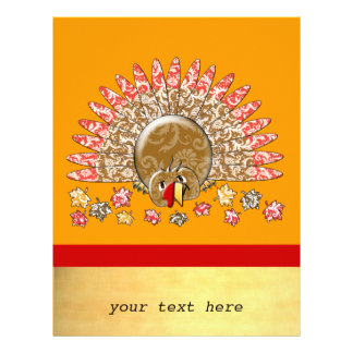 Cute Cartoon Thanksgiving Turkey Flyer
