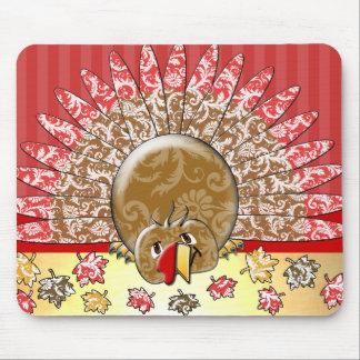Cute Cartoon Thanksgiving Turkey Mouse Pad