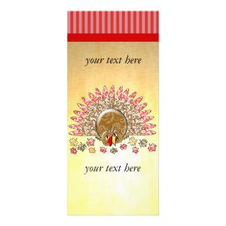 Cute Cartoon Thanksgiving Turkey Rack Card