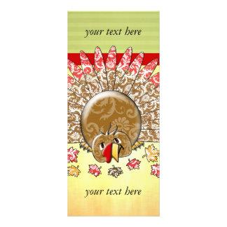 Cute Cartoon Thanksgiving Turkey Full Color Rack Card
