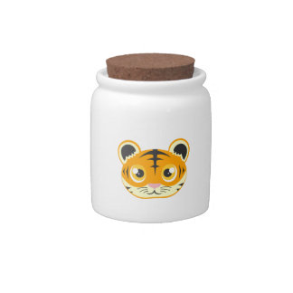 Cute Cartoon Tiger Candy Jar