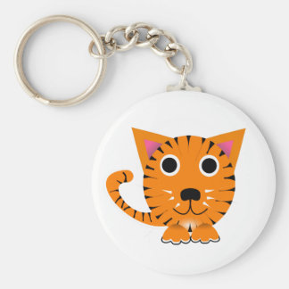 Cute Cartoon Tiger Cat Key Chain