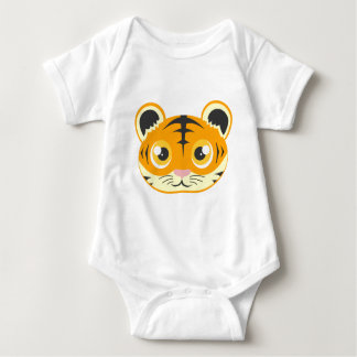 Cute Cartoon Tiger Head Baby Bodysuit