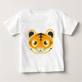 Cute Cartoon Tiger Head Baby T-Shirt