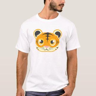 Cute Cartoon Tiger Head T-Shirt