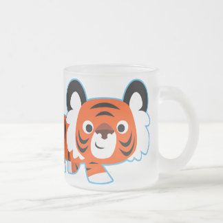 Cute Cartoon Tiger on The Prowl  Frosted Mug