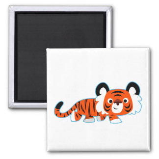 Cute Cartoon Tiger on The Prowl Magnet